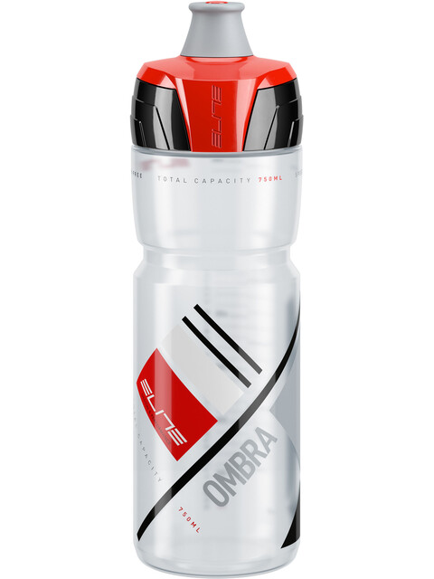 Elite Ombra Trinkflasche 750ml transparent/rot